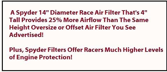 Spyder Air Filters Horsepower